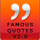 Famous Quotes v2 - CodeCanyon Item for Sale