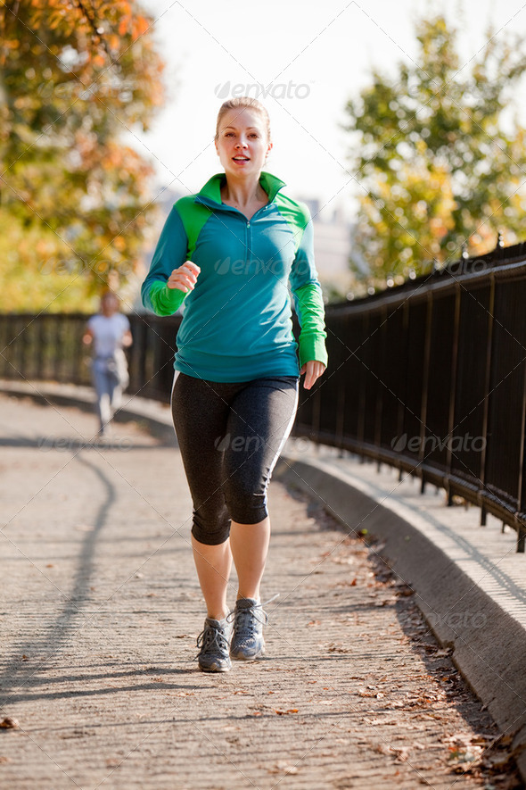 Woman Jog - Stock Photo - Images