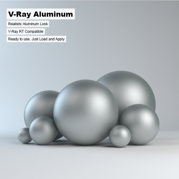 V-Ray Aluminum Material - 3DOcean Item for Sale