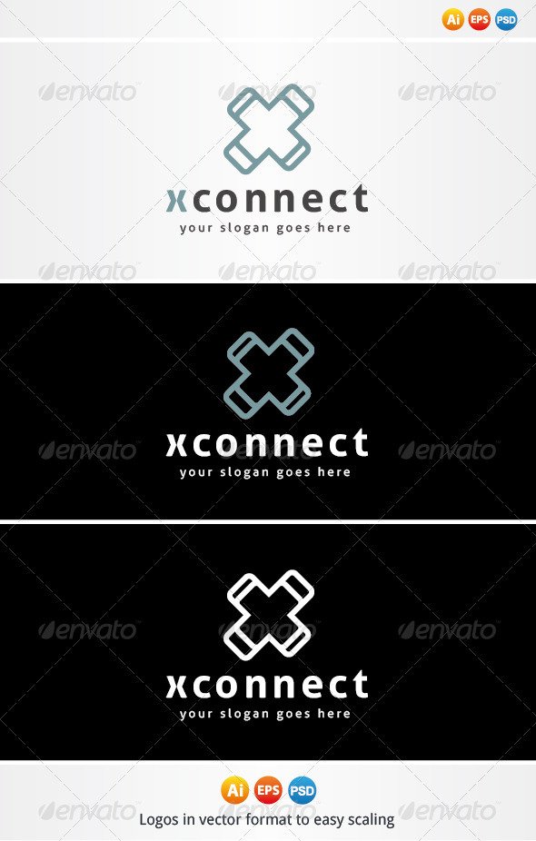X Connect Logo - Letters Logo Templates