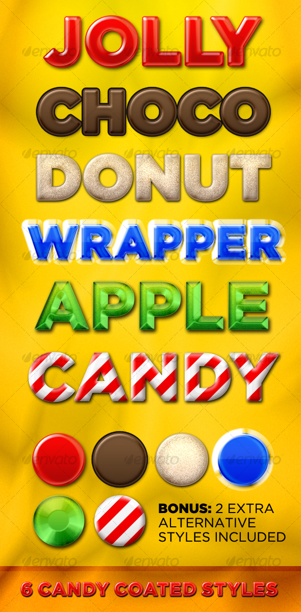 GraphicRiver 6 Candy Coated Styles 105304