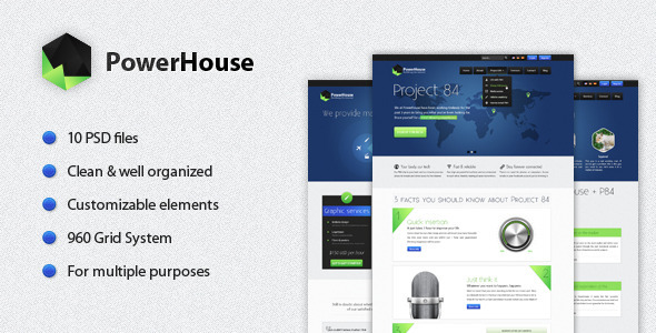 PowerHouse - Corporate PSD Templates