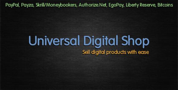 CodeCanyon Universal Digital Shop 2987770
