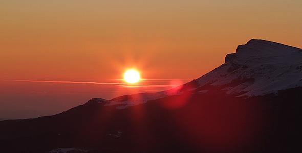 Mountain Sunset Time Lapse