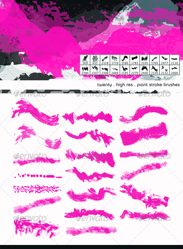 Wild Paint Brush Strokes - High Res - Brushes Photoshop