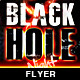 Black Hole Night Flyer - GraphicRiver Item for Sale