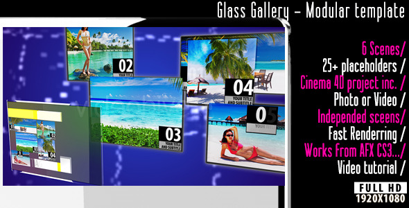 VideoHive Glass Gallery 2989466