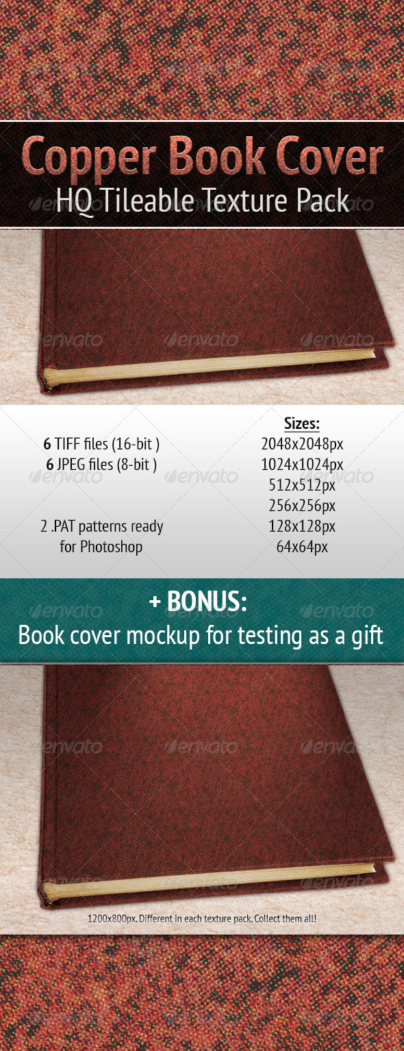 Book Cover Graphicriver ~ Copper background photoshop maydesk