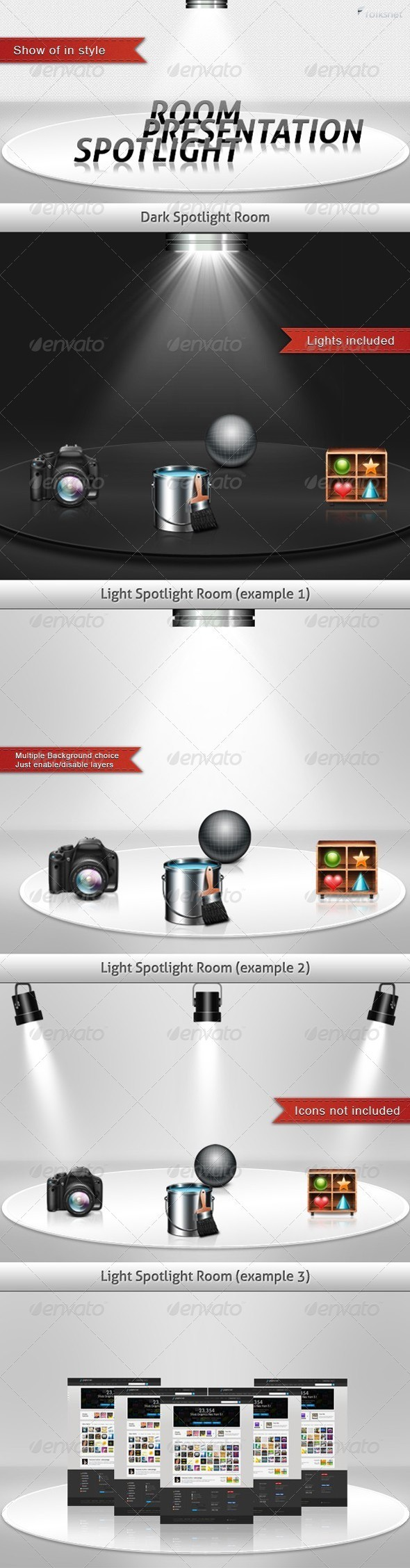 Spotlight Presentation Room - Miscellaneous Displays
