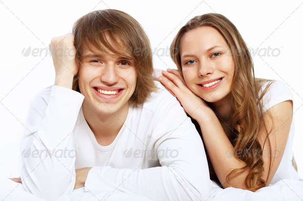 Young couple at home - Stock Photo - Images