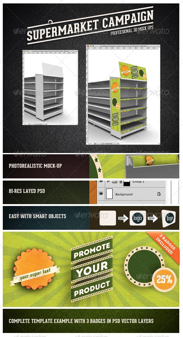 GraphicRiver Supermarket Campaign Mock-up 2972886