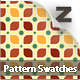 18 Retro Leaf Pattern Swatches