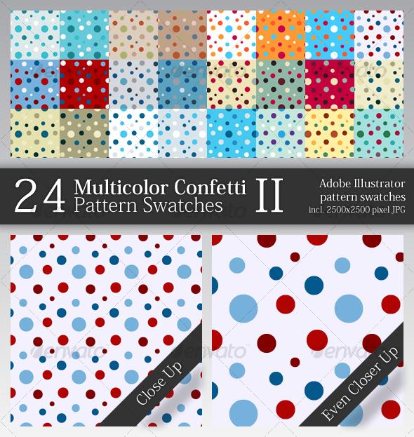 GraphicRiver 24 Multicolor Confetti Pattern Swatches II 49915