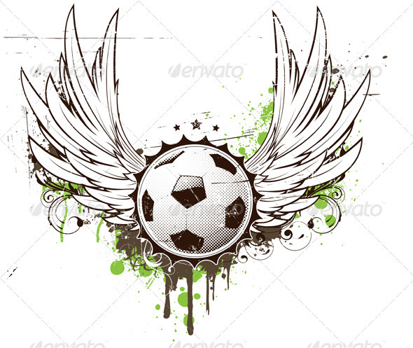 Football insignia  - Sports/Activity Conceptual