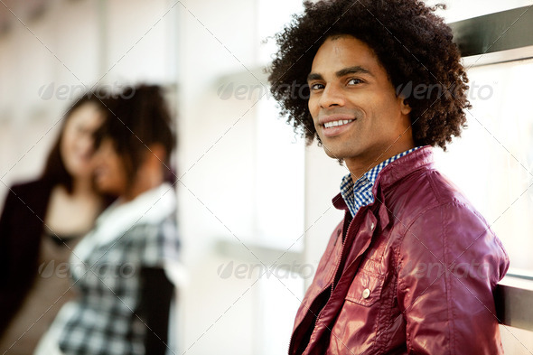 Handsome African American Male - Stock Photo - Images