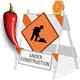 Under Construction Barricades With Animated Guy - ActiveDen Item for Sale