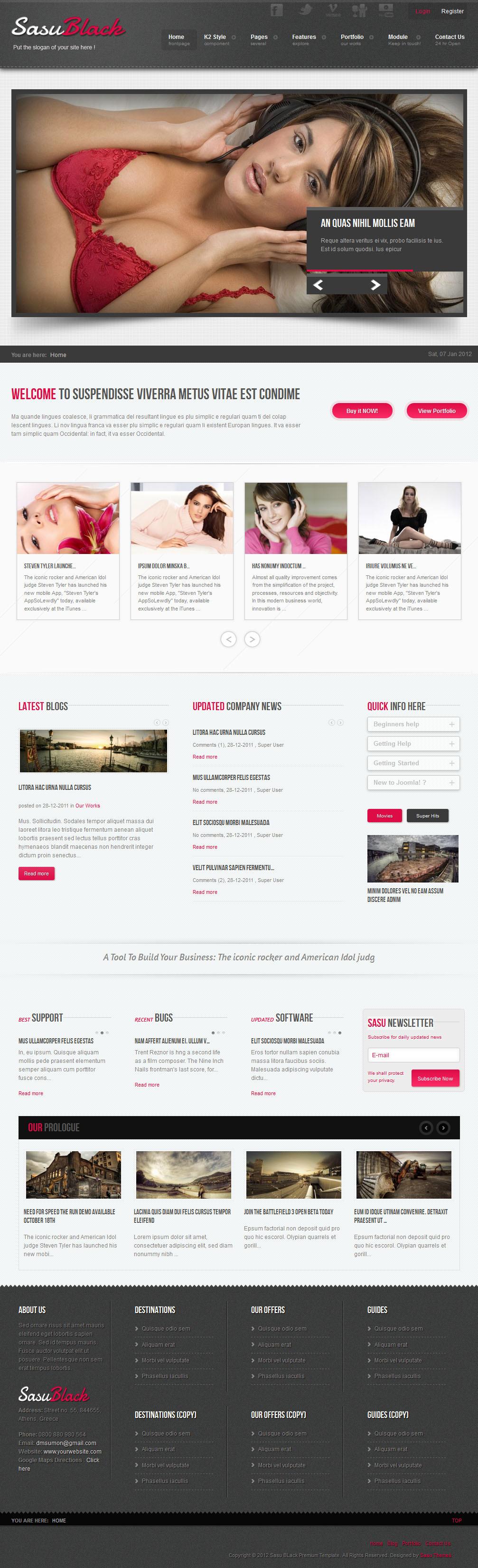 Sasu Black - Premium Joomla Template