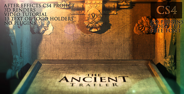 After Effects Project - VideoHive The Ancient Trailer 106717