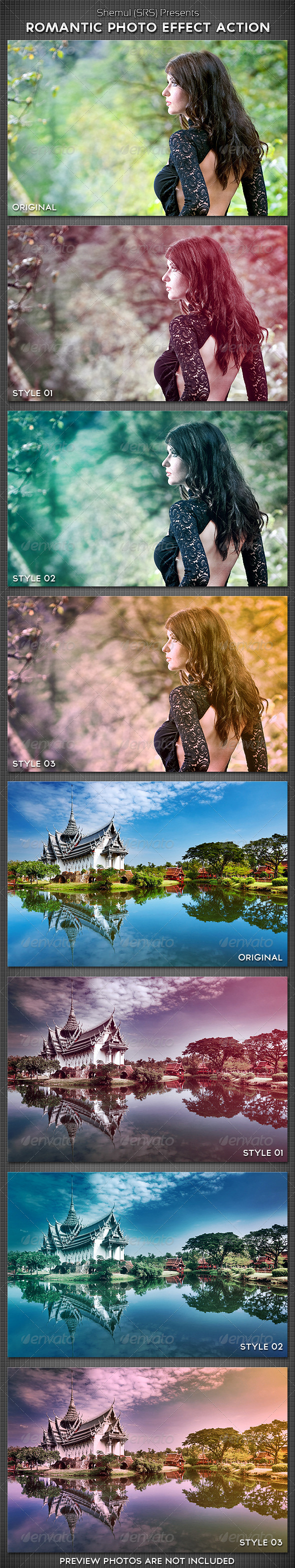 Romantic Photo Effect Action - Photo Effects Actions