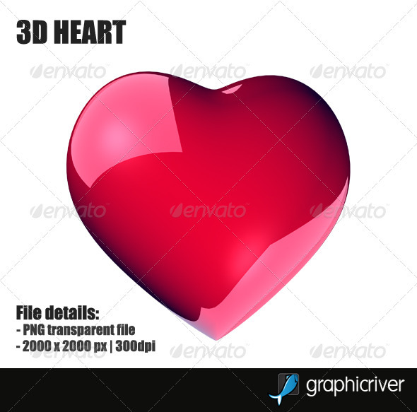 3D Heart - Objects 3D Renders