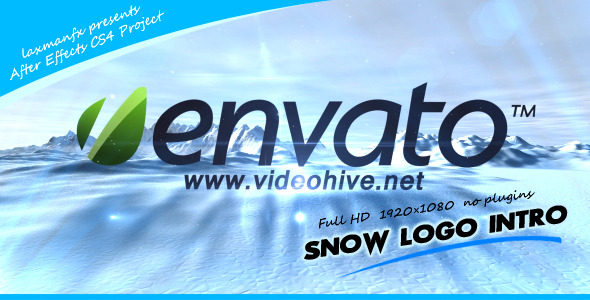 VideoHive Snow Logo Intro 2995850