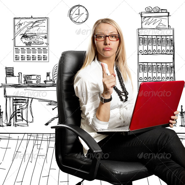 Business Woman In Chair - Stock Photo - Images