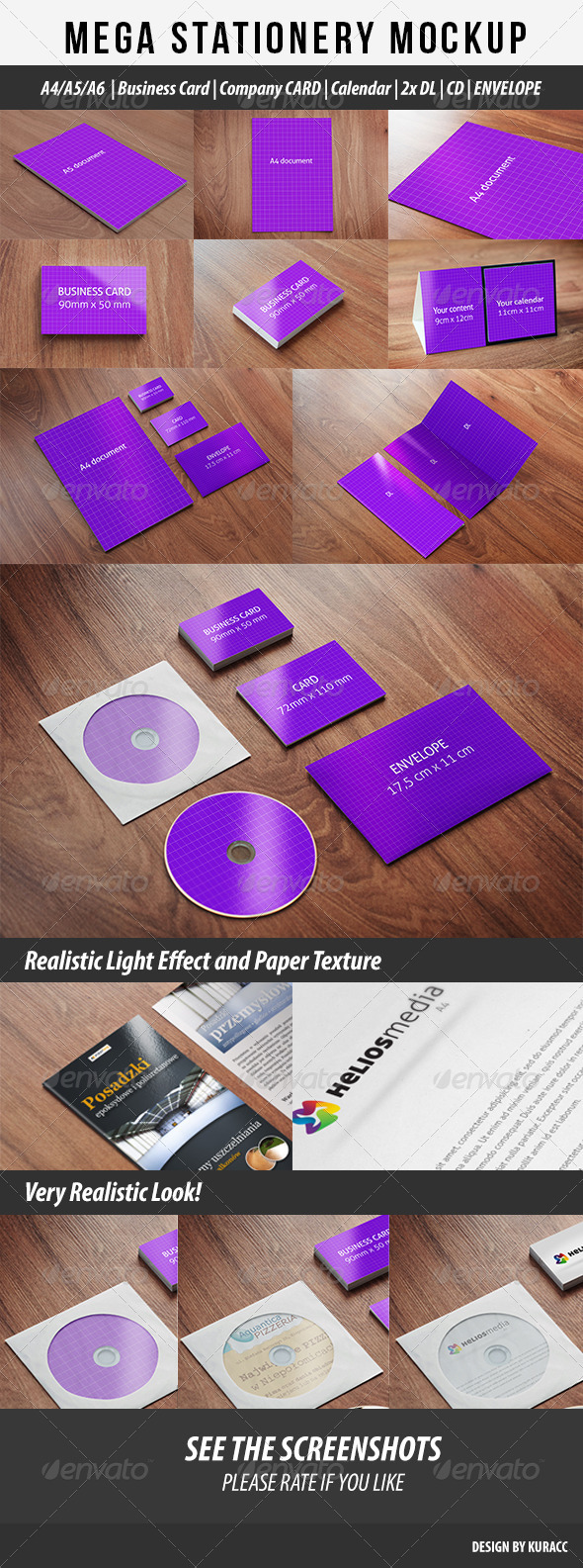 Mega Stationary Mock Up 9 in 1 - Stationery Print