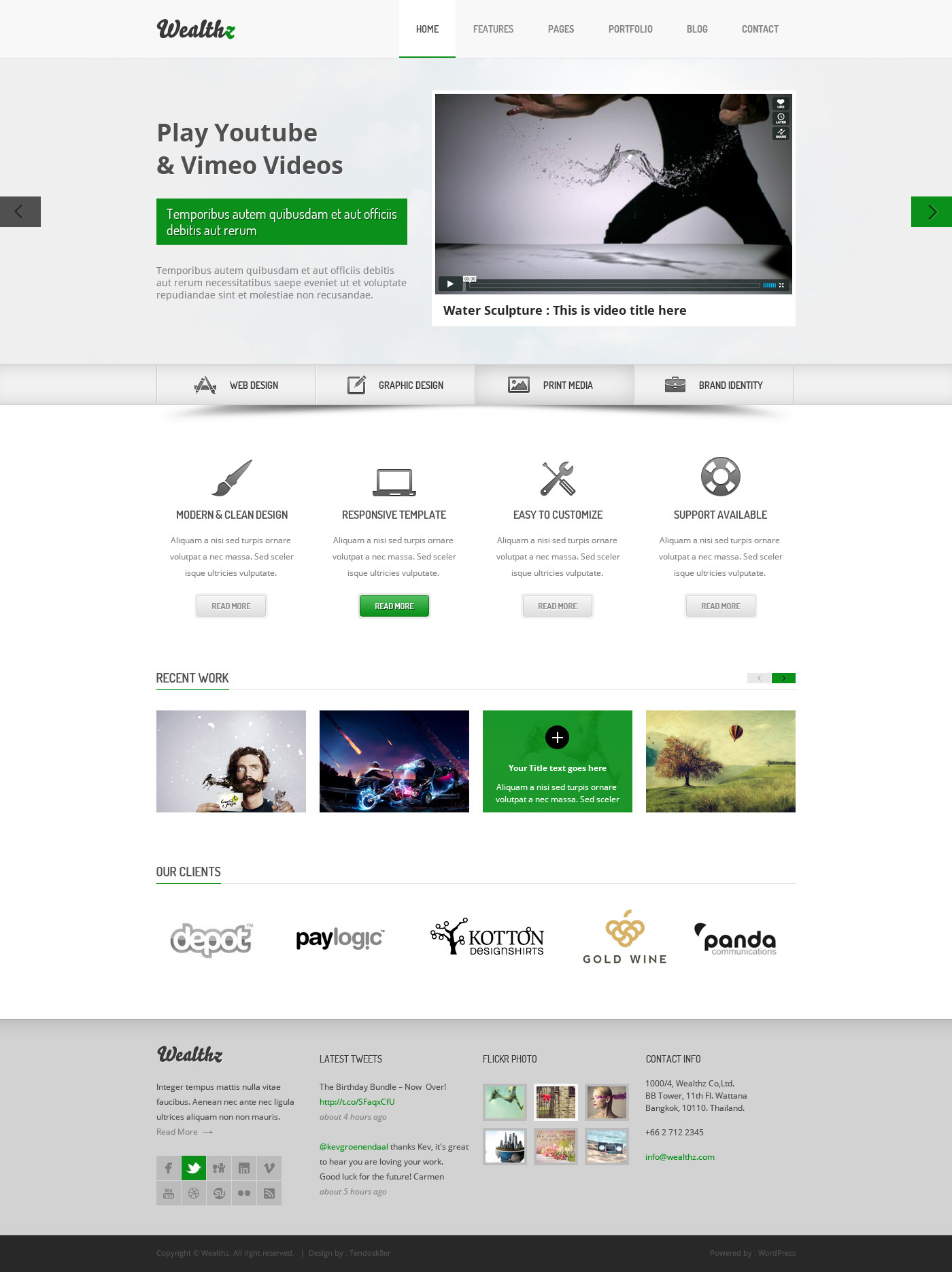 Wealthz | Creative Corporate PSD Template