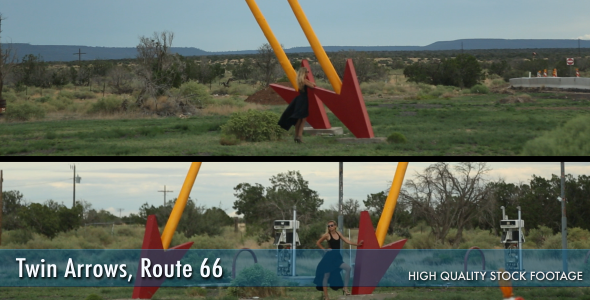 Twin Arrows On Route 66