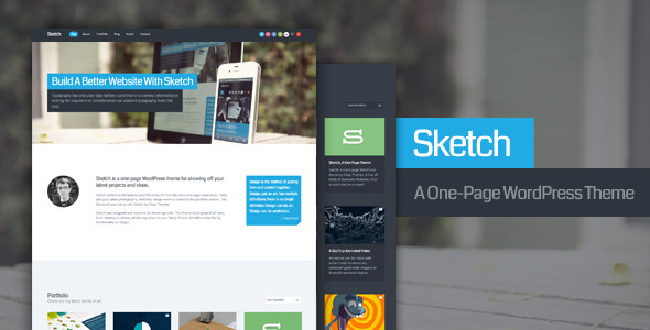 Sketch - Theme de Portfolio para WordPress