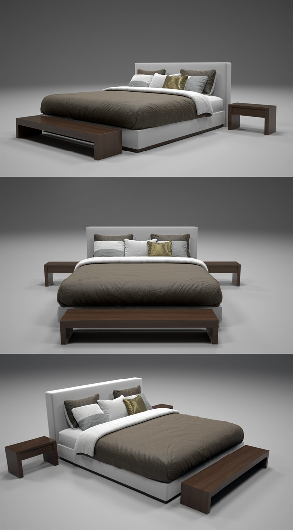 3DOcean Realistic Bed Model with Materials 2 2997192