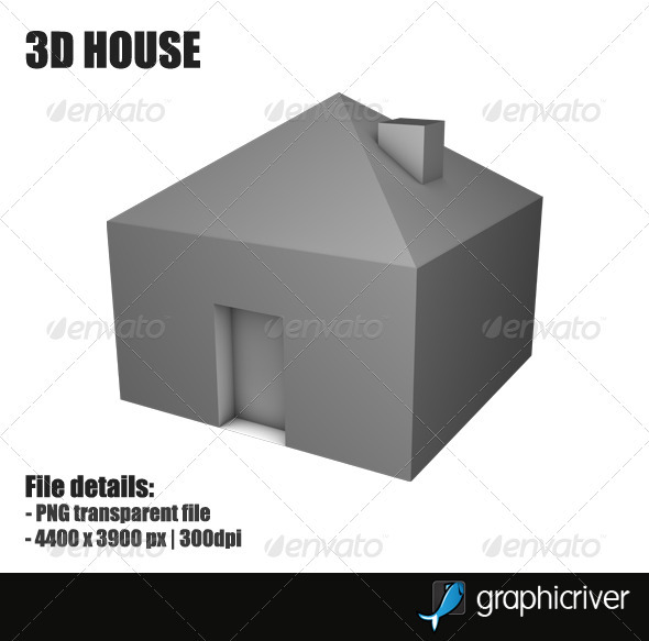 GraphicRiver 3D House 2969451 Created: 8