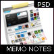 Memo Note, Sticky Paper Smart Object - GraphicRiver Item for Sale