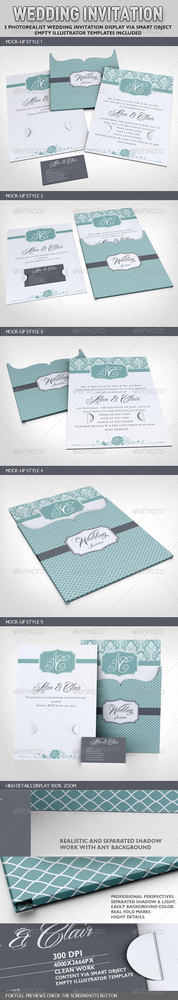 Wedding Invitation Jacket Mock-up - Miscellaneous Print