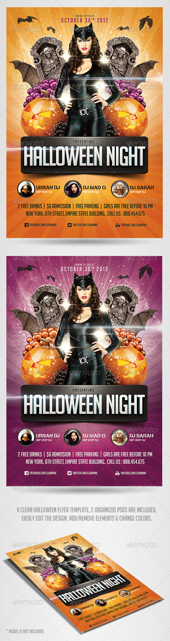 GraphicRiver Halloween Night Flyer Template 2997746