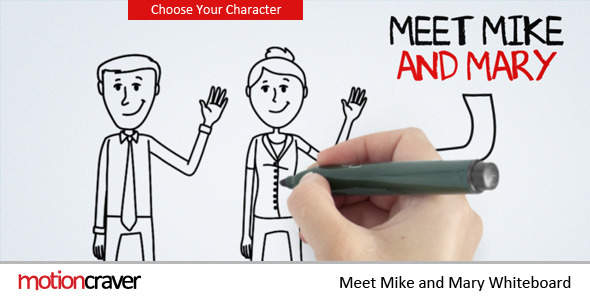 VideoHive Meet Mike&Mary Whiteboard 2997841