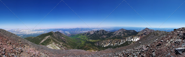 Mountain Top Panorama - Stock Photo - Images