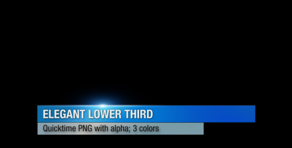 VideoHive Elegant Lower Third 90193