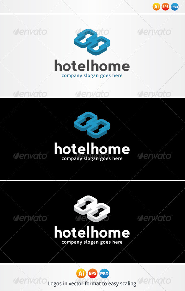 Home Hotel Logo - Letters Logo Templates