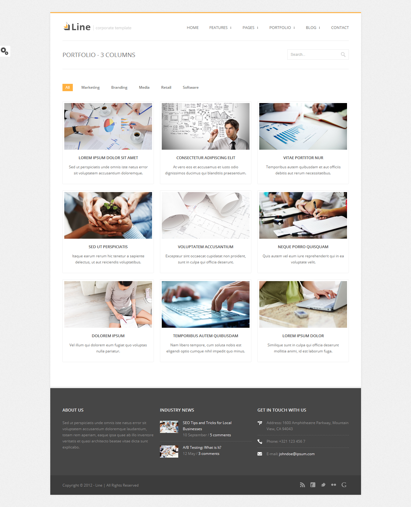 Line - Responsive Corporate HTML Template