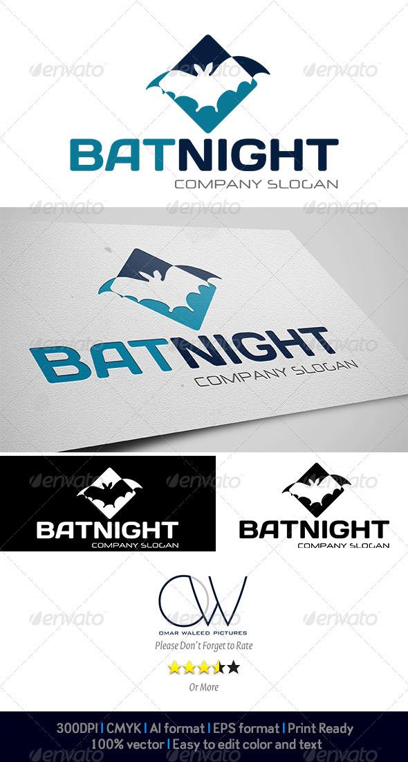 Bat Night Logo - Animals Logo Templates