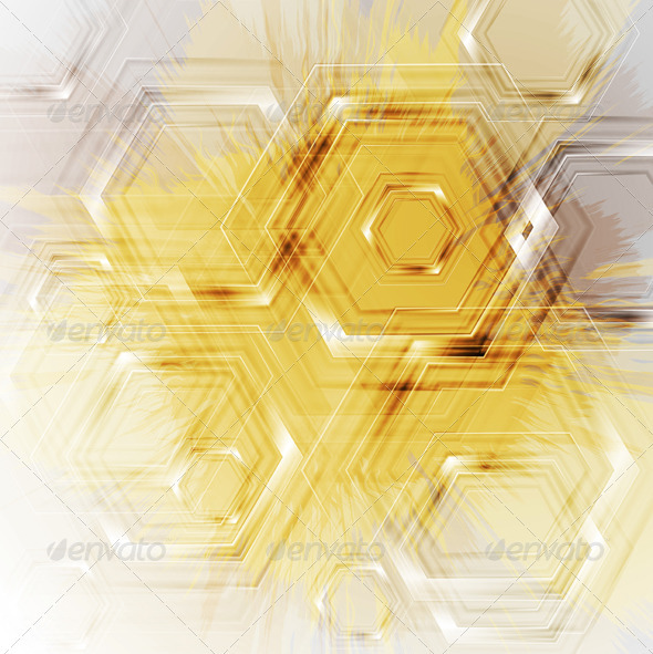 Bright yellow grunge background - Backgrounds Decorative