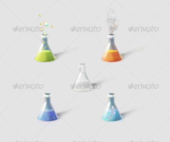 GraphicRiver Flasks with magical ingredients 106875