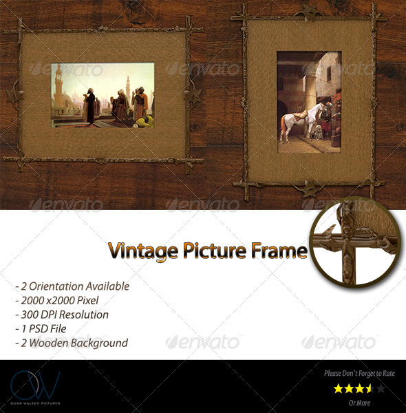 Vintage Frame Picture - Photo Templates Graphics