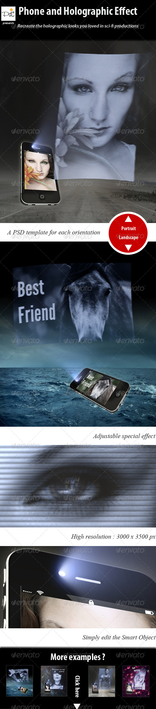 GraphicRiver Phone and Holographic Effect 2969566