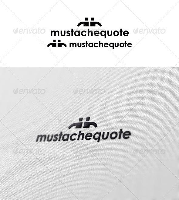 Mustache Quote - Symbols Logo Templates