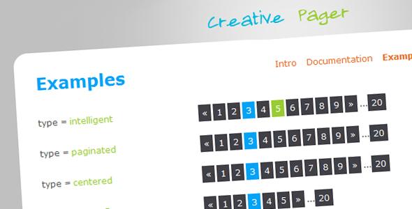 CodeCanyon CreativePager 103350