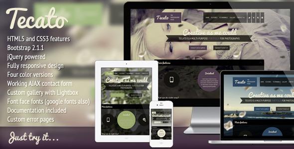 Tecato - Creative HTML5 one page portfolio - Portfolio Creative