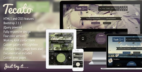 Tecato - Creative HTML5 one page portfolio