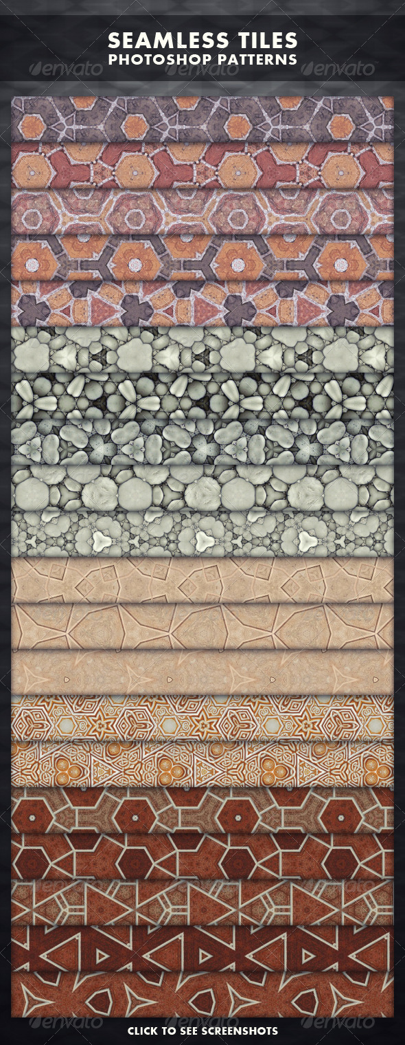 Seamless Tiles - Photoshop Patterns - Artistic Textures / Fills / Patterns